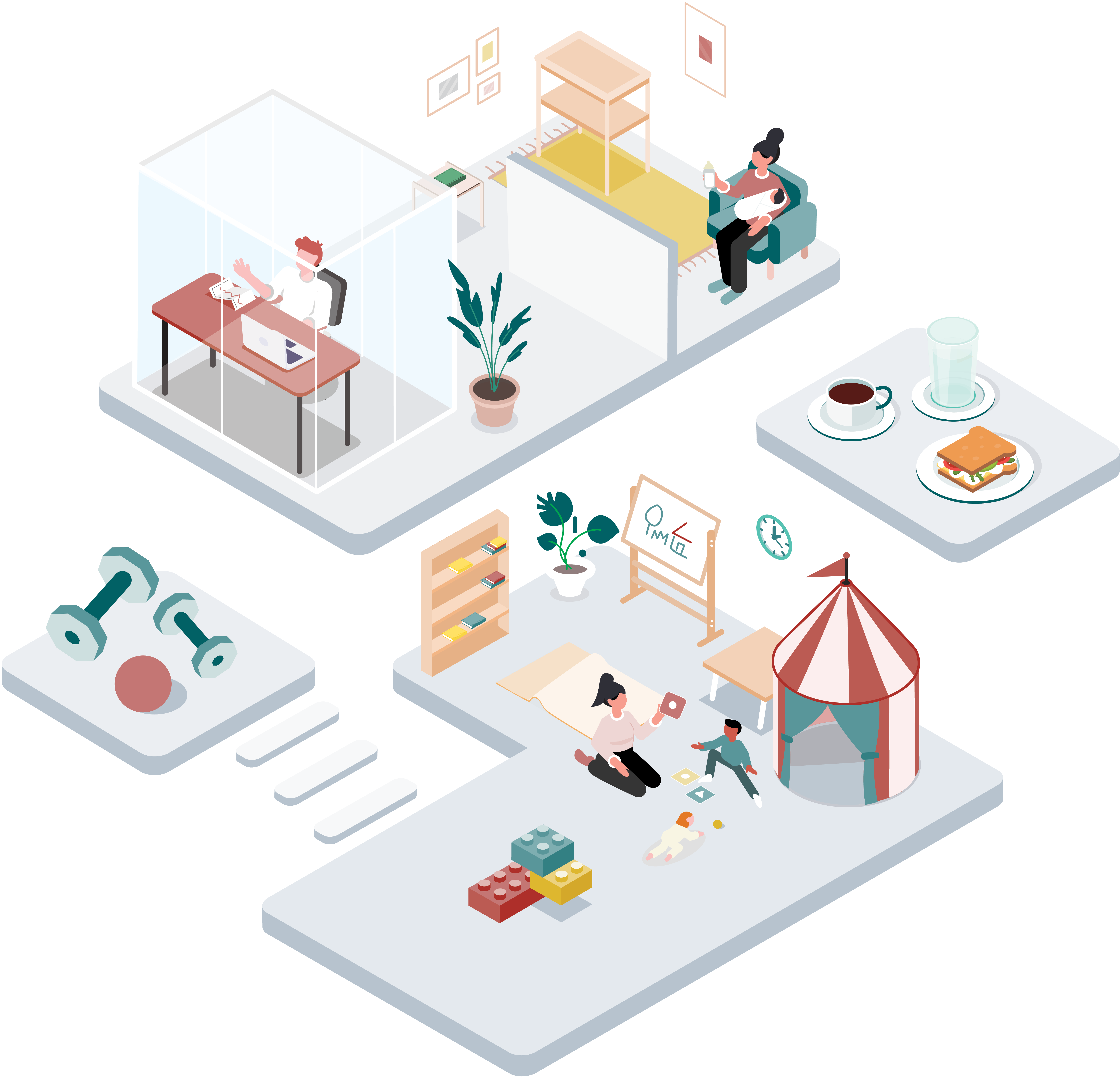 The 5th Floor Illustration: Umfassende Services