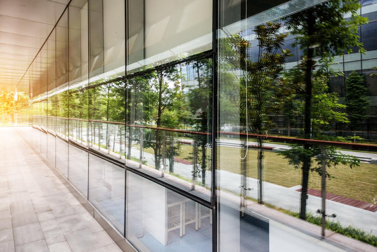 Glasfassade Gebäude